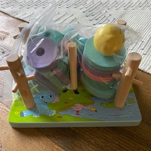Wooden sorting stacking game for toddlers